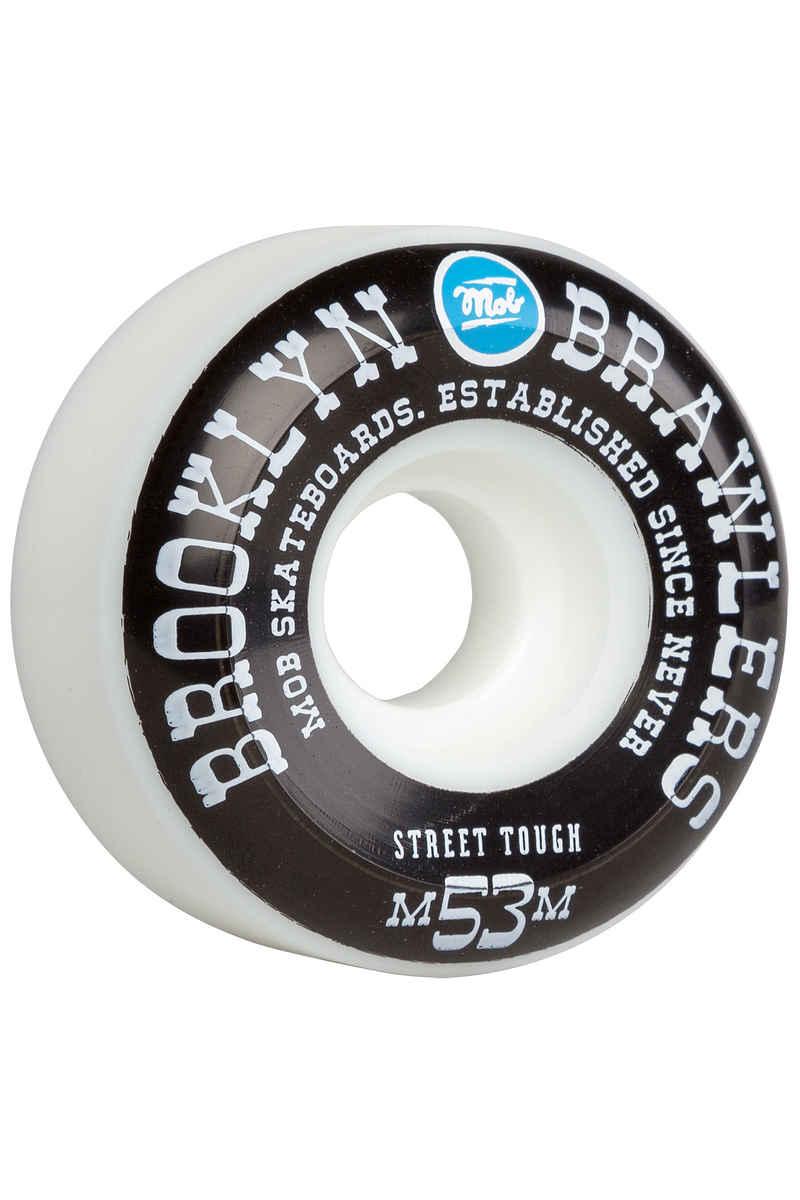 MOB Skateboards Brooklyn Brawlers Wheels (white black) 53mm 100A 4 Pack