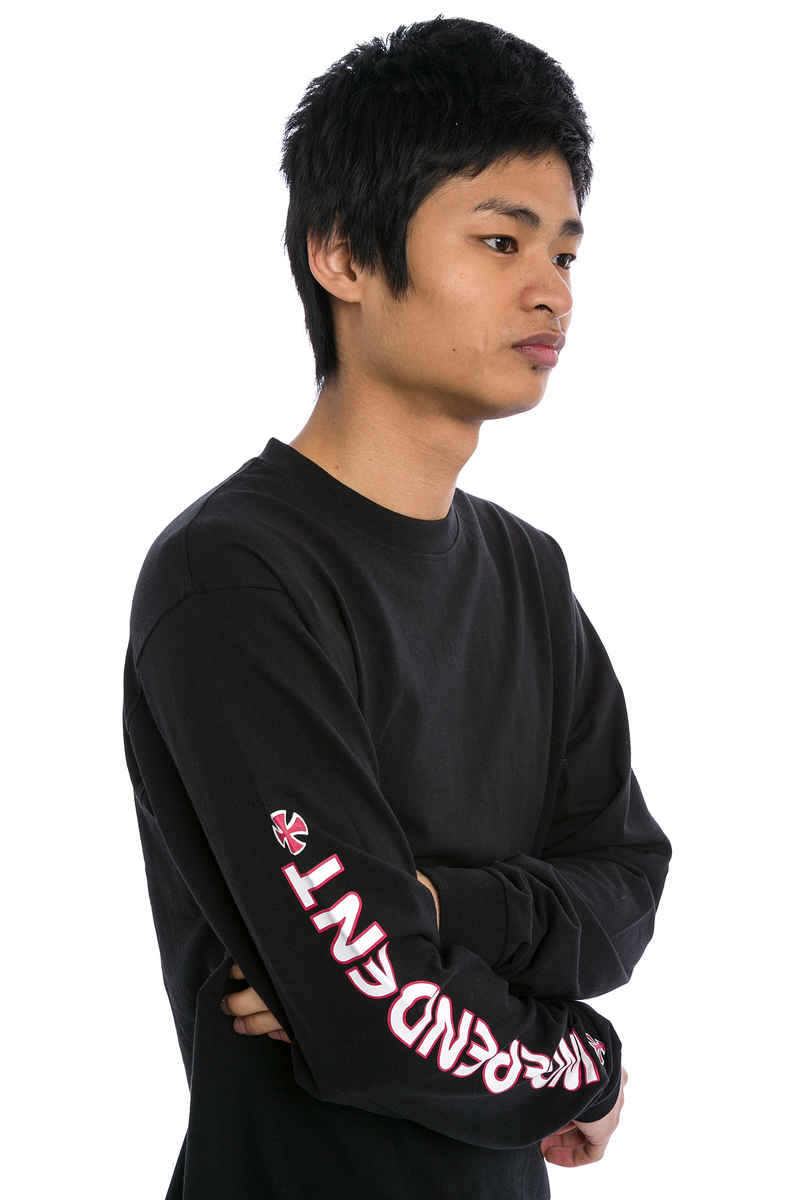 Independent Bar Cross Longsleeve (black black)