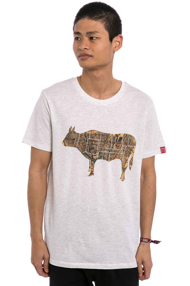 Private City Cow T-Shirt (heather white)