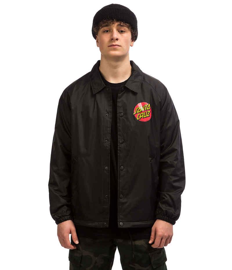 Santa Cruz Classic Dot Coach Jacket (black)