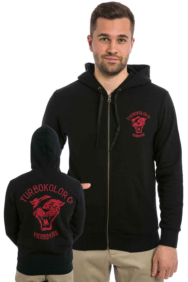 Turbokolor OG Tiger Zip-Hoodie (black)