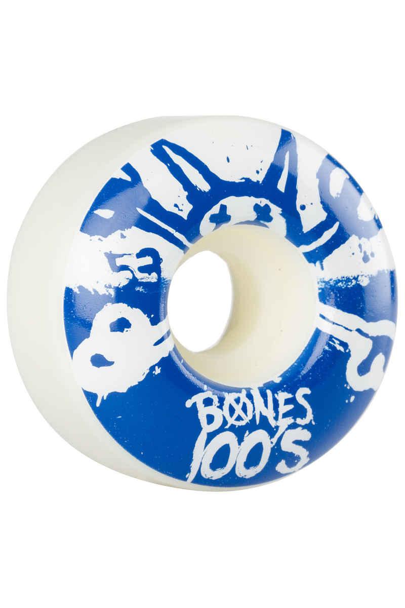Bones 100's-OG #15 53mm Rollen (white blue) 4er Pack