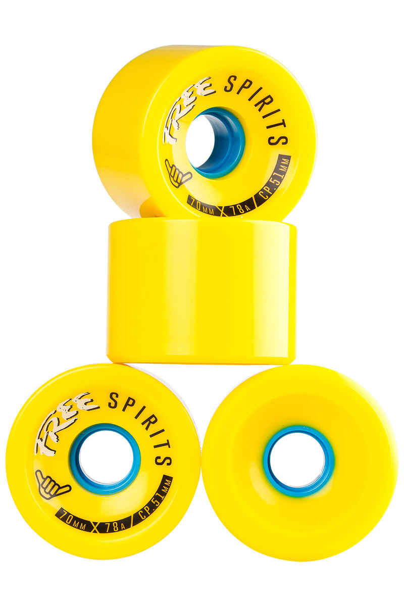 Free Wheels Spirits Roue (yellow) 4 Pack 70mm 78A