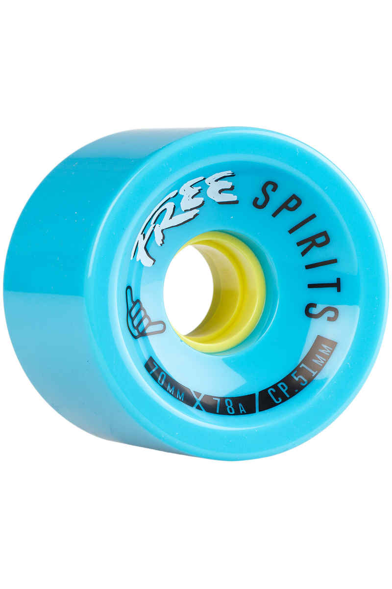 Free Wheels Spirits 70mm 78A Roue (blue) 4 Pack