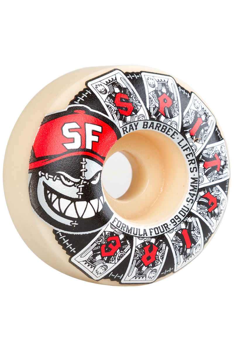 Spitfire Barbee Lifers Formula Four Roue (white) 54mm 99A 4 Pack