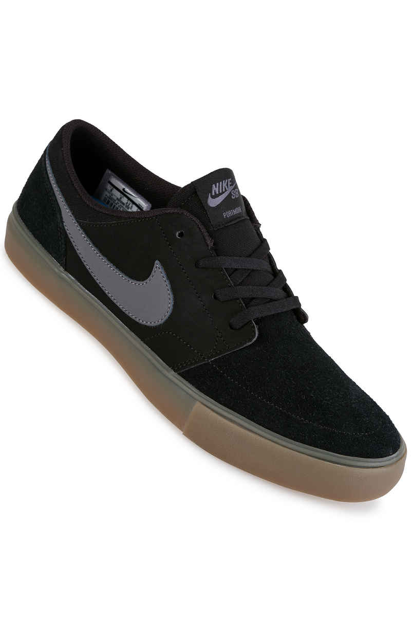 Nike SB Solarsoft Portmore II Shoes (black dark grey gum)
