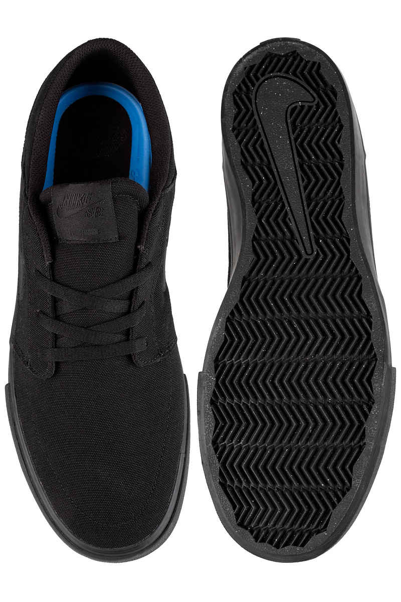 Nike SB Solarsoft Portmore II Canvas Shoes (black black)