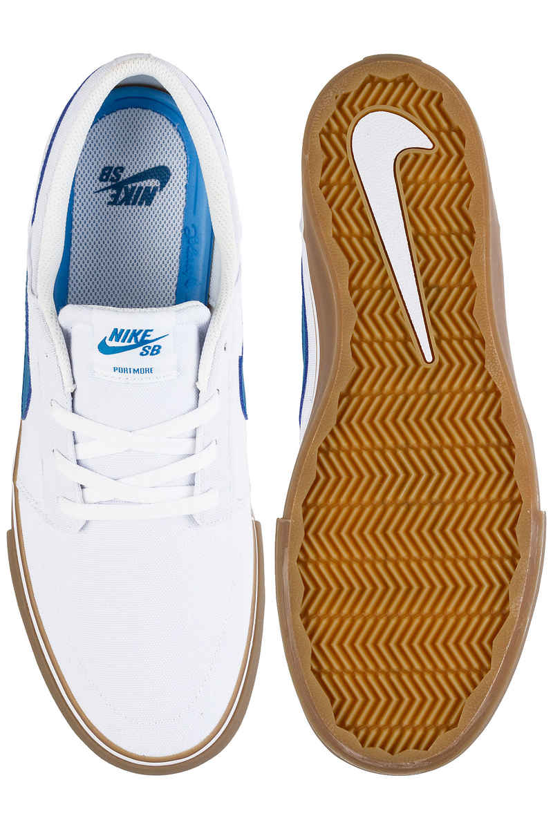 Nike SB Solarsoft Portmore II Canvas Schuh (white industrial blue)