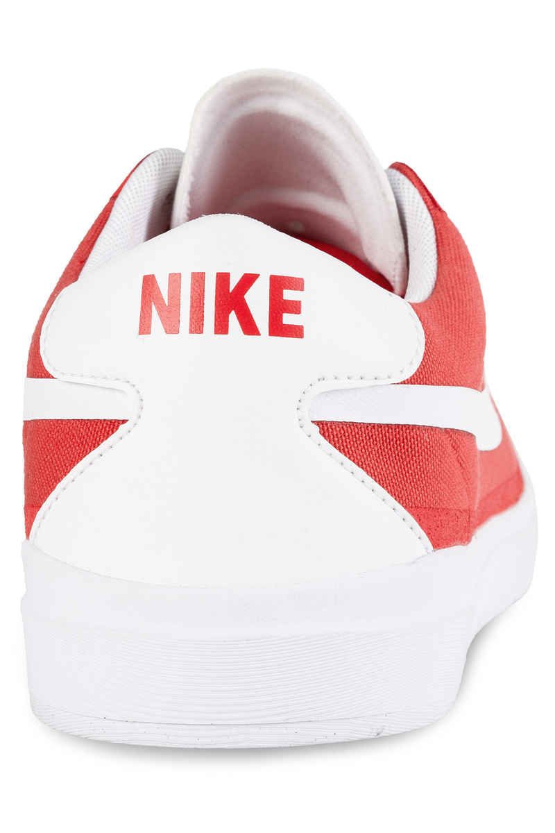 Nike SB Bruin Hyperfeel Canvas Shoes (track red white)