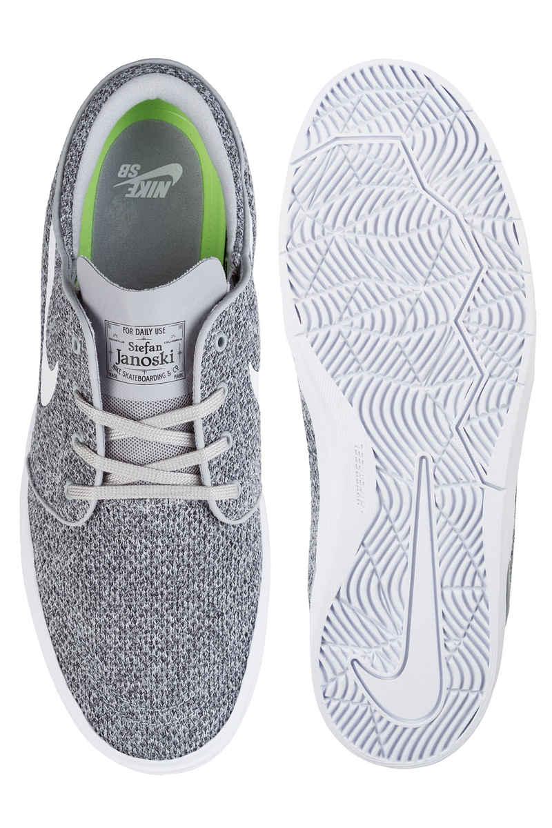Nike SB Stefan Janoski Hyperfeel Mesh Shoes (wolf grey white)
