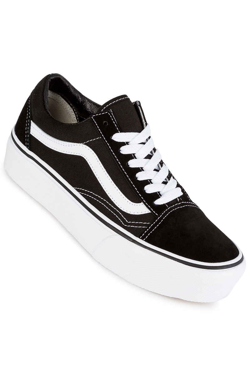 women black and white vans