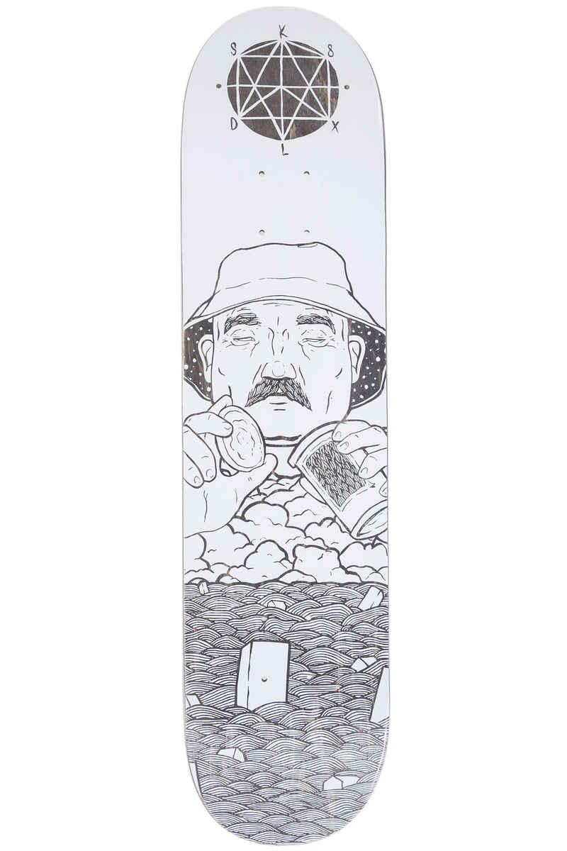 "SK8DLX x Boggie Gramb Series 7.5"" Planche Skate (white)"