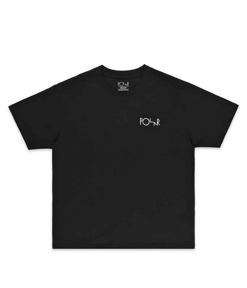 Polar Skateboards Stroke Logo Camiseta  (black white)