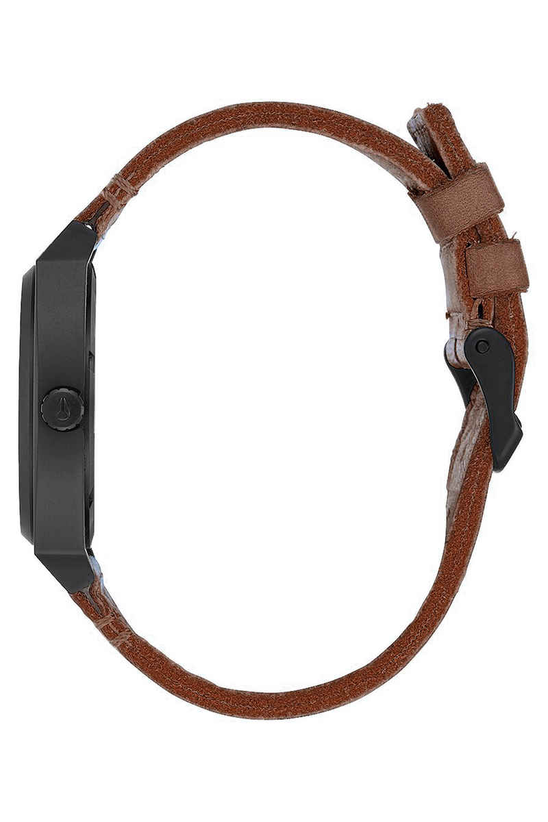 Nixon The Time Teller Watch (black stamped brown)