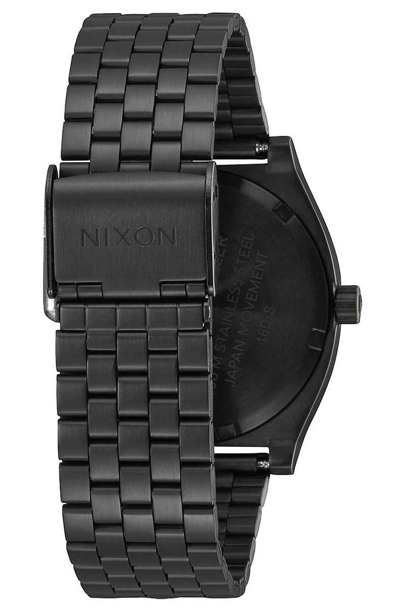Nixon The Time Teller Horloge (all black silver lum)
