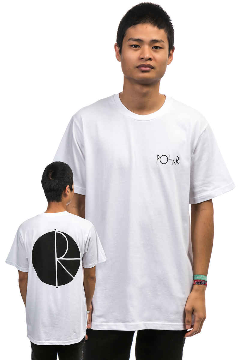 Polar Skateboards Fill Logo Camiseta  (white)