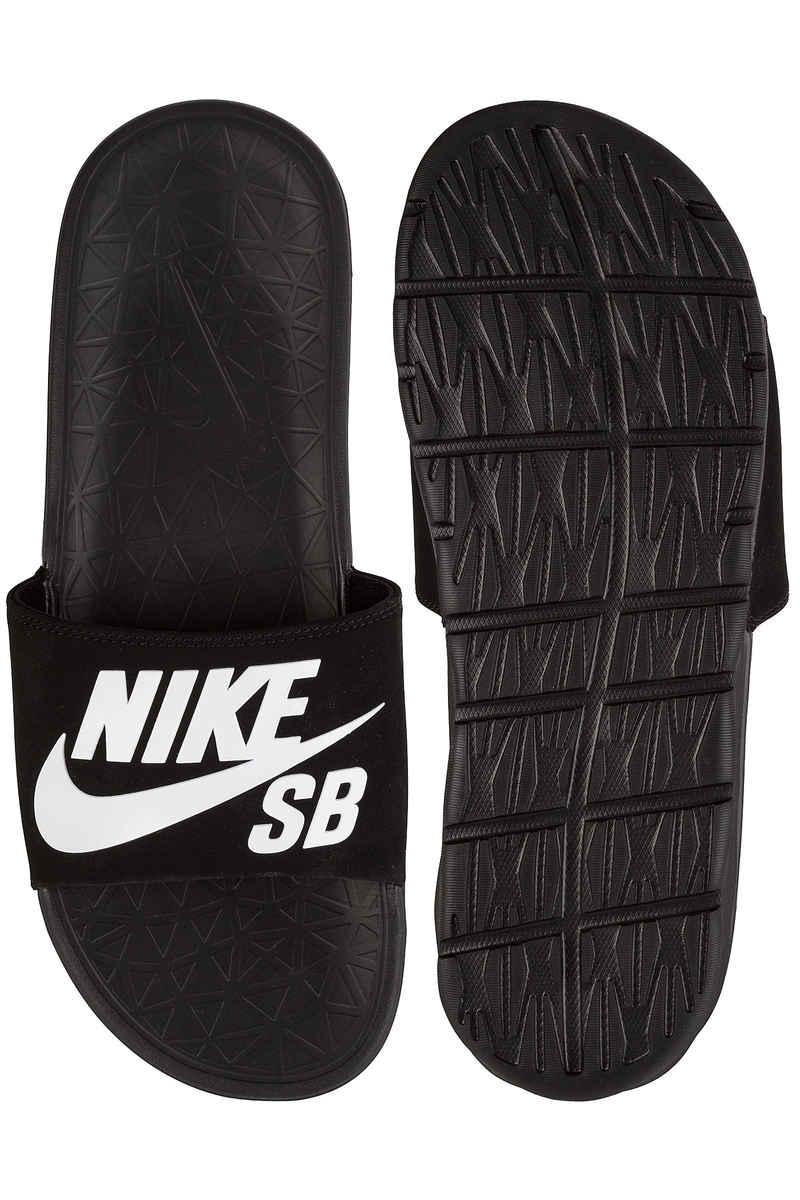 Nike SB Benassi Solarsoft Slide Chanclas (black white)