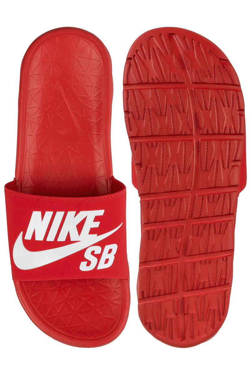 Nike SB Benassi Solarsoft Slide Sandale (university red white)