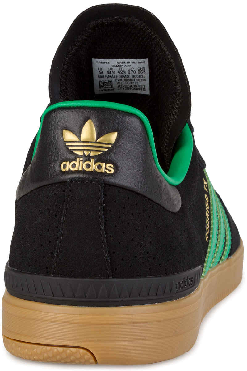 adidas Skateboarding Samba ADV Shoes (core black green gum)