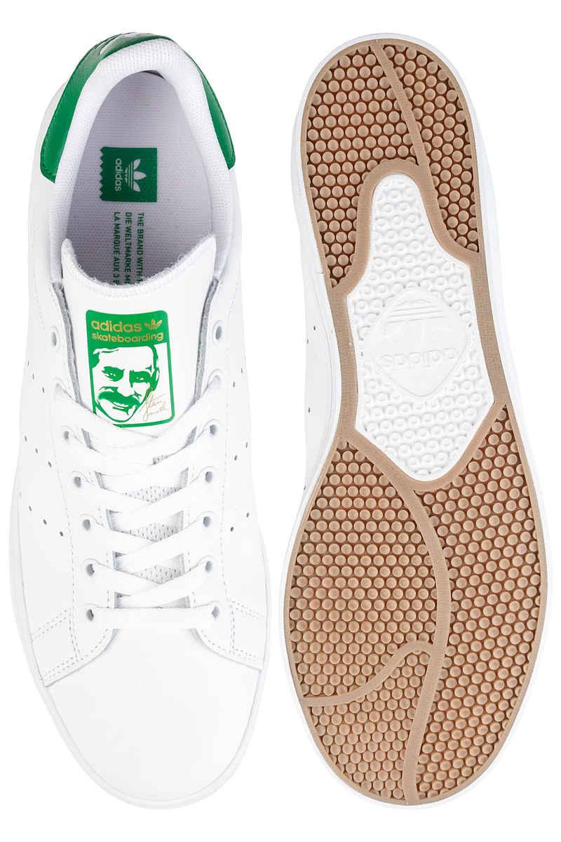 adidas Skateboarding Stan Smith Vulc Shoes  (white white green)