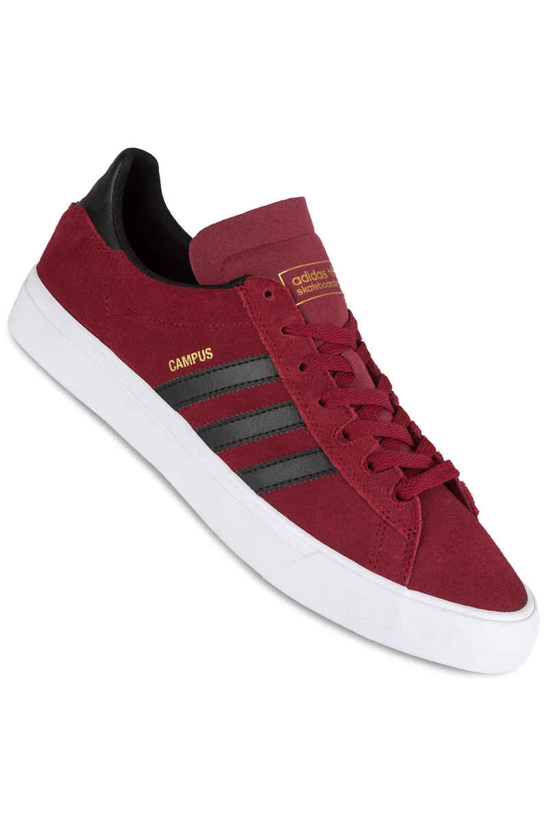 adidas Skateboarding Campus Vulc II ADV Shoes (burgundy core black white)