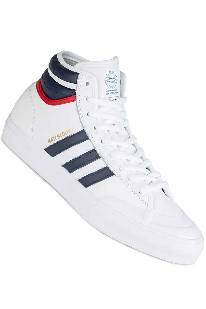 adidas Skateboarding Matchcourt High RX2 Shoes (white navy scarlet)