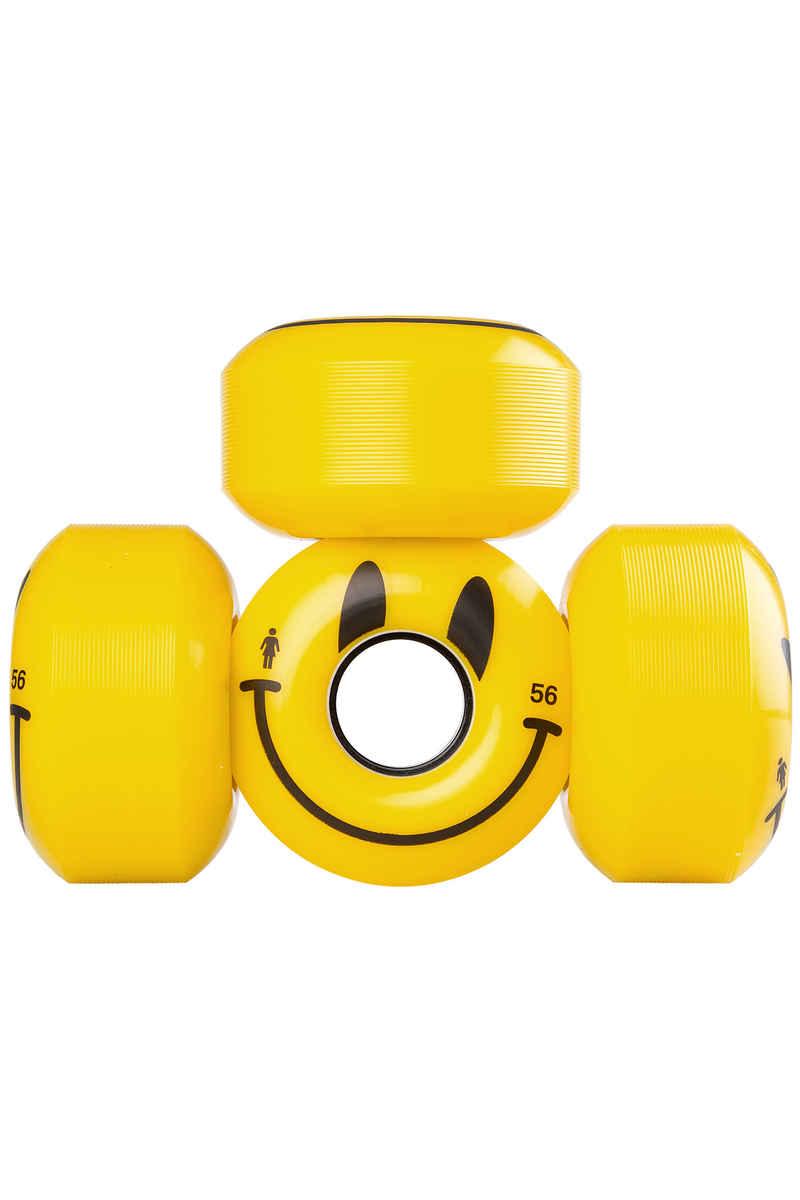 Girl Happy 56mm Rollen (yellow) 4er Pack