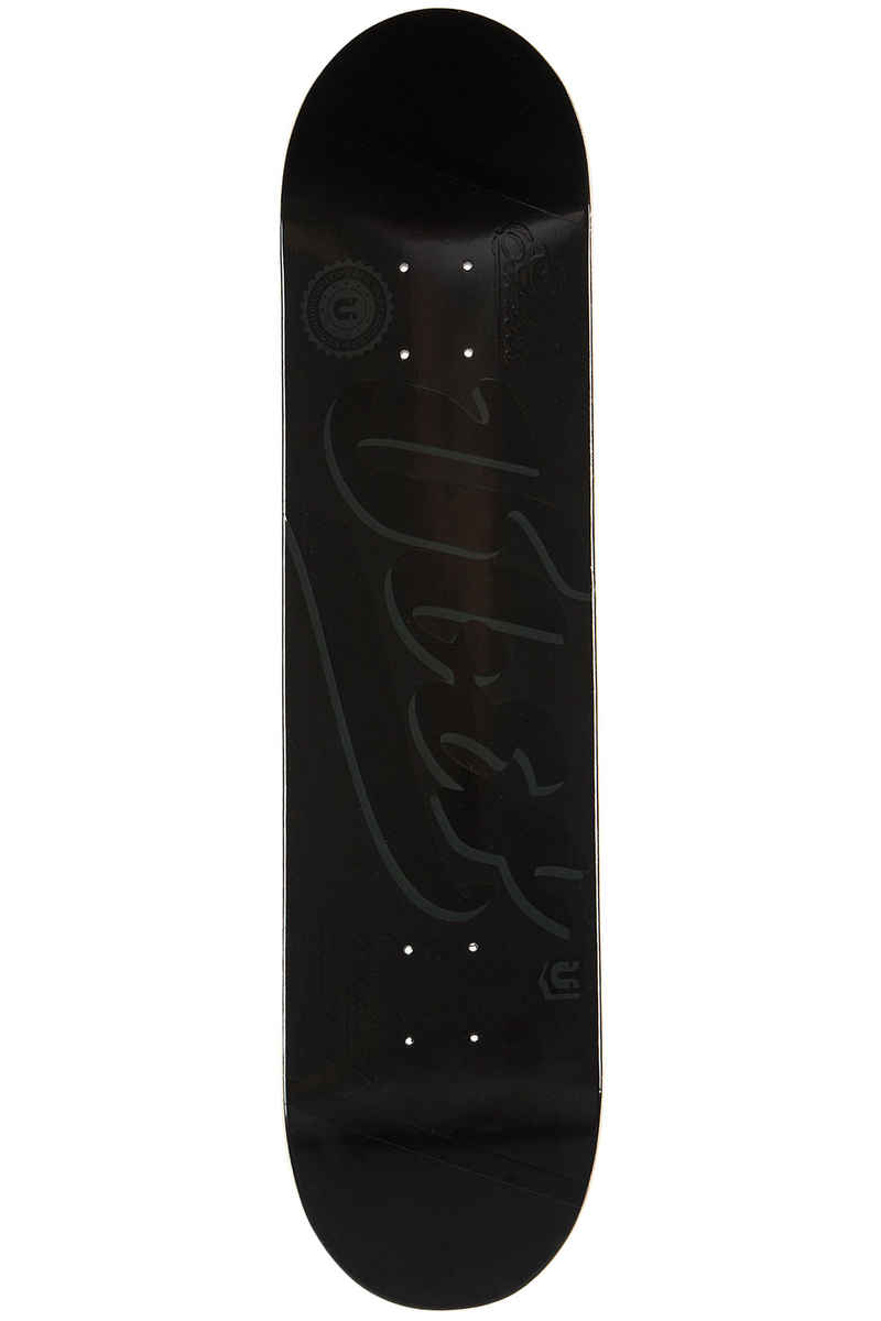 "Über Skateboards Black Is Back 8.5"" Deck (black)"