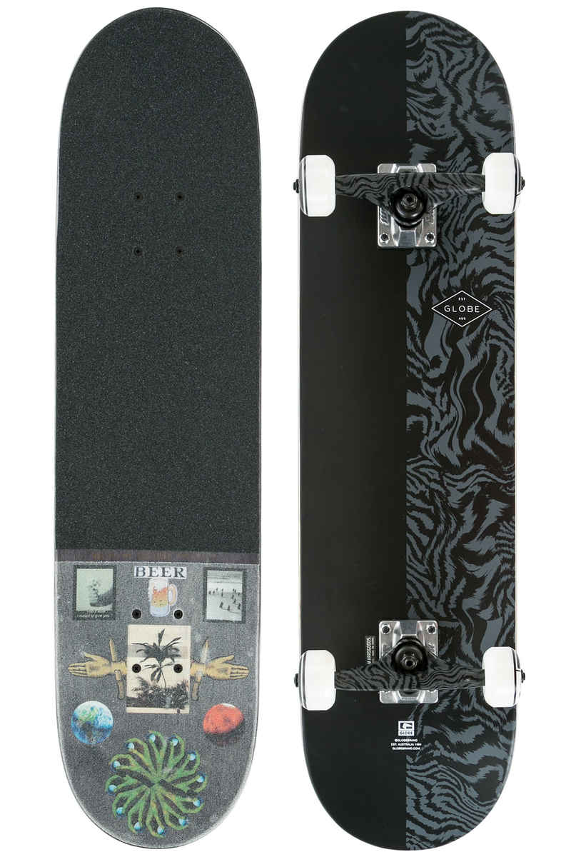 "Globe Pushover 8"" Complete-Board (tailspin black)"