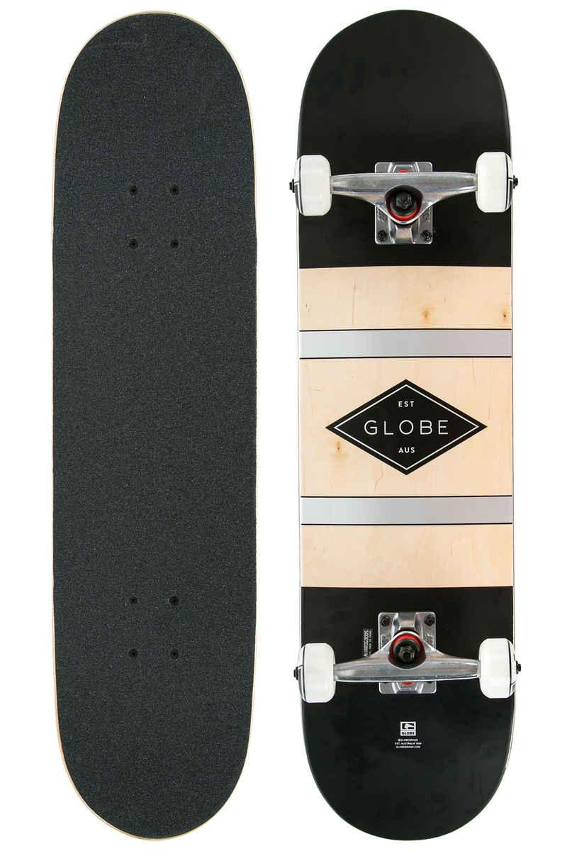 """Globe Diablo 2 8"""" Complete-Skateboard  (black silver)"""