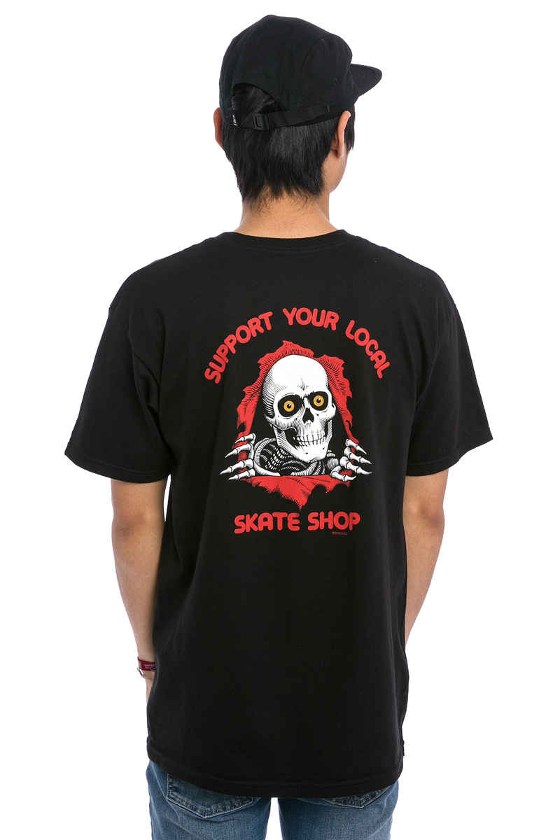 Powell-Peralta Support Your Local Skate Shop T-Shirt (black)