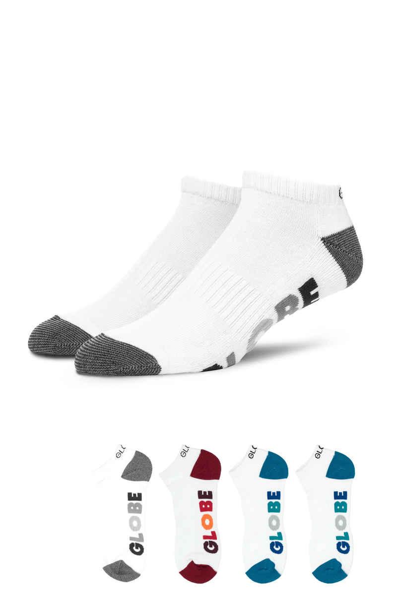 Globe Multi Stripe Ankle Socks US 7-11 (white) 5er Pack