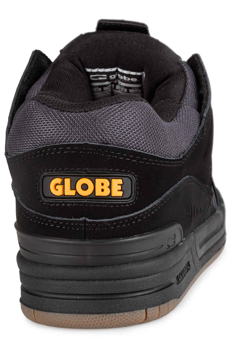 Globe Fusion Shoes  (black ebony orange)