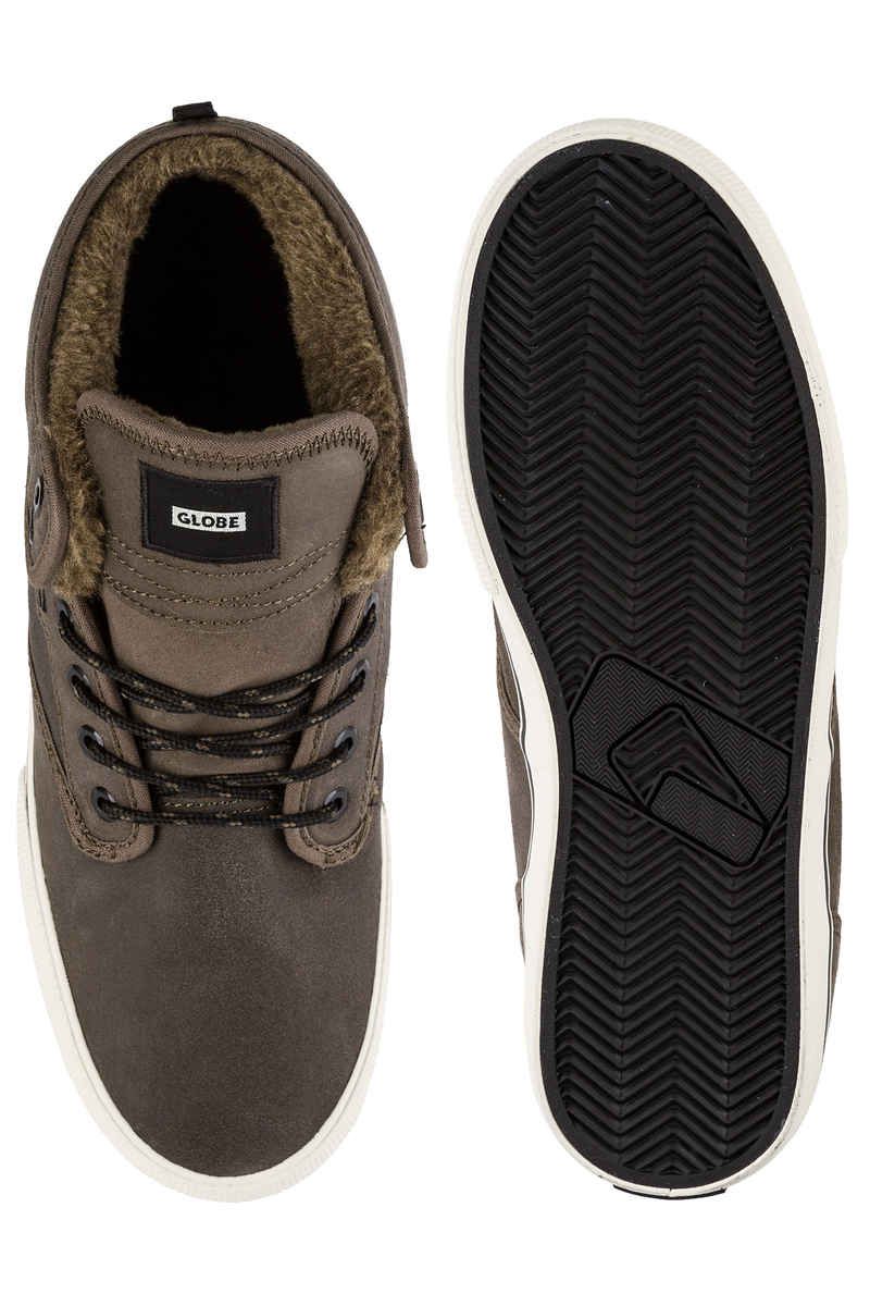 Globe Motley Mid Shoes (dark brown off white fur)