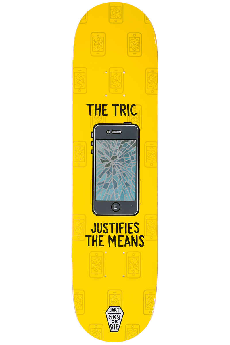 "Jart Skateboards Sk8 Or Die 7.875"" Planche Skate (yellow)"