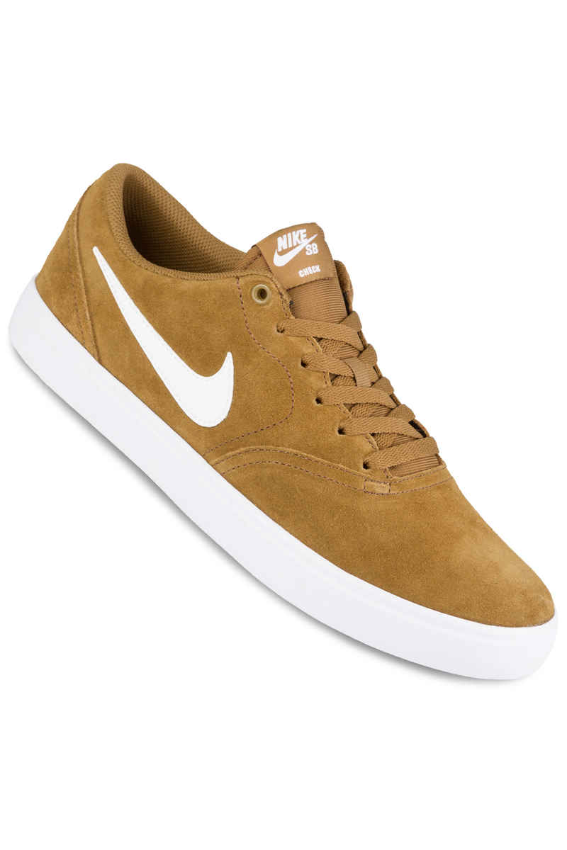 Nike SB Check Solarsoft Chaussure (golden beige white)