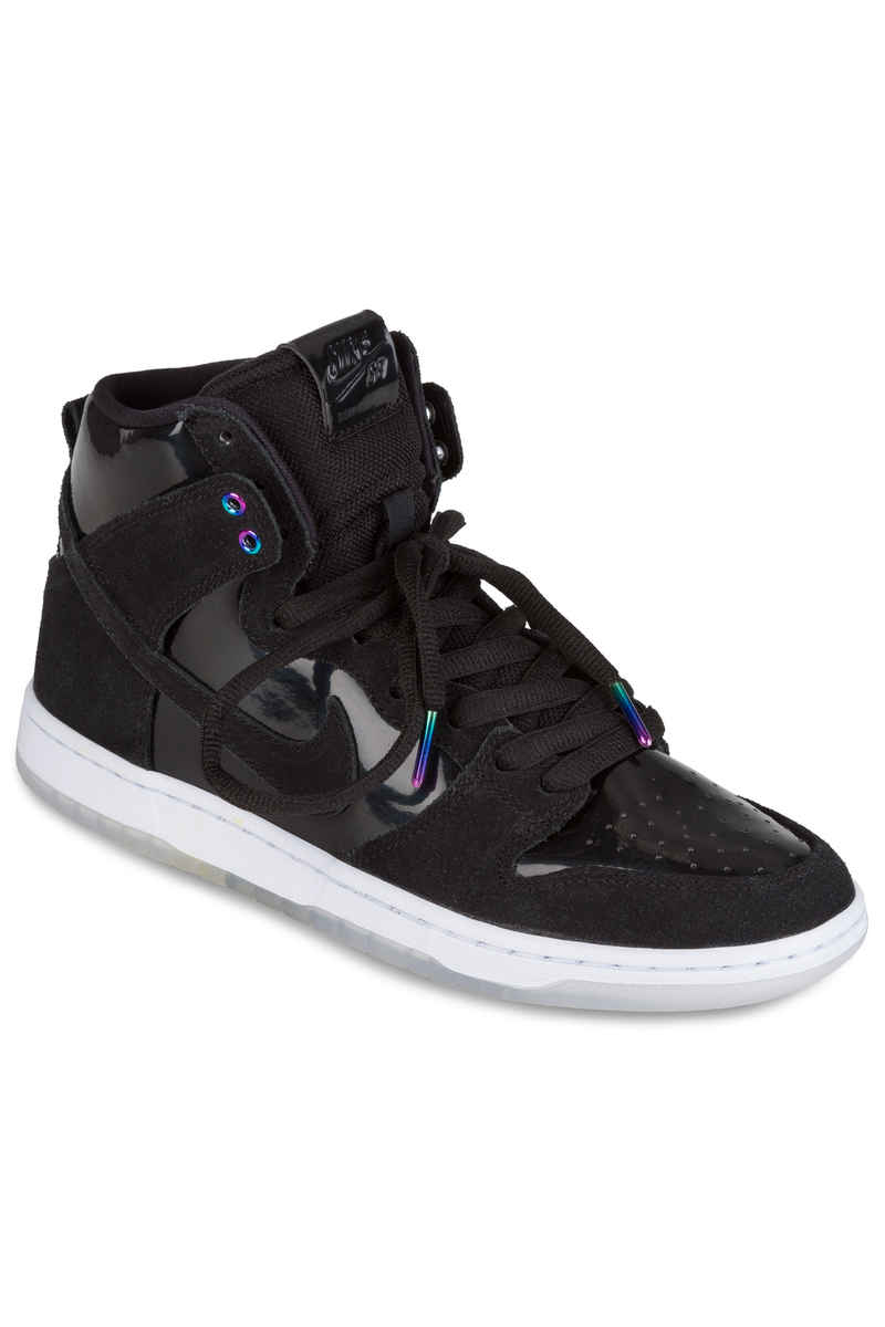 Nike SB Dunk High Pro Schuh (black black white clear)