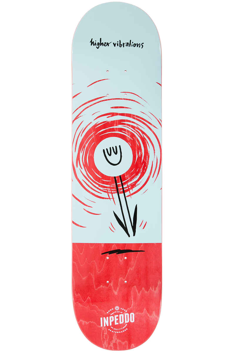 "Inpeddo Higher Vibrations 8.25"" Planche Skate (black red)"