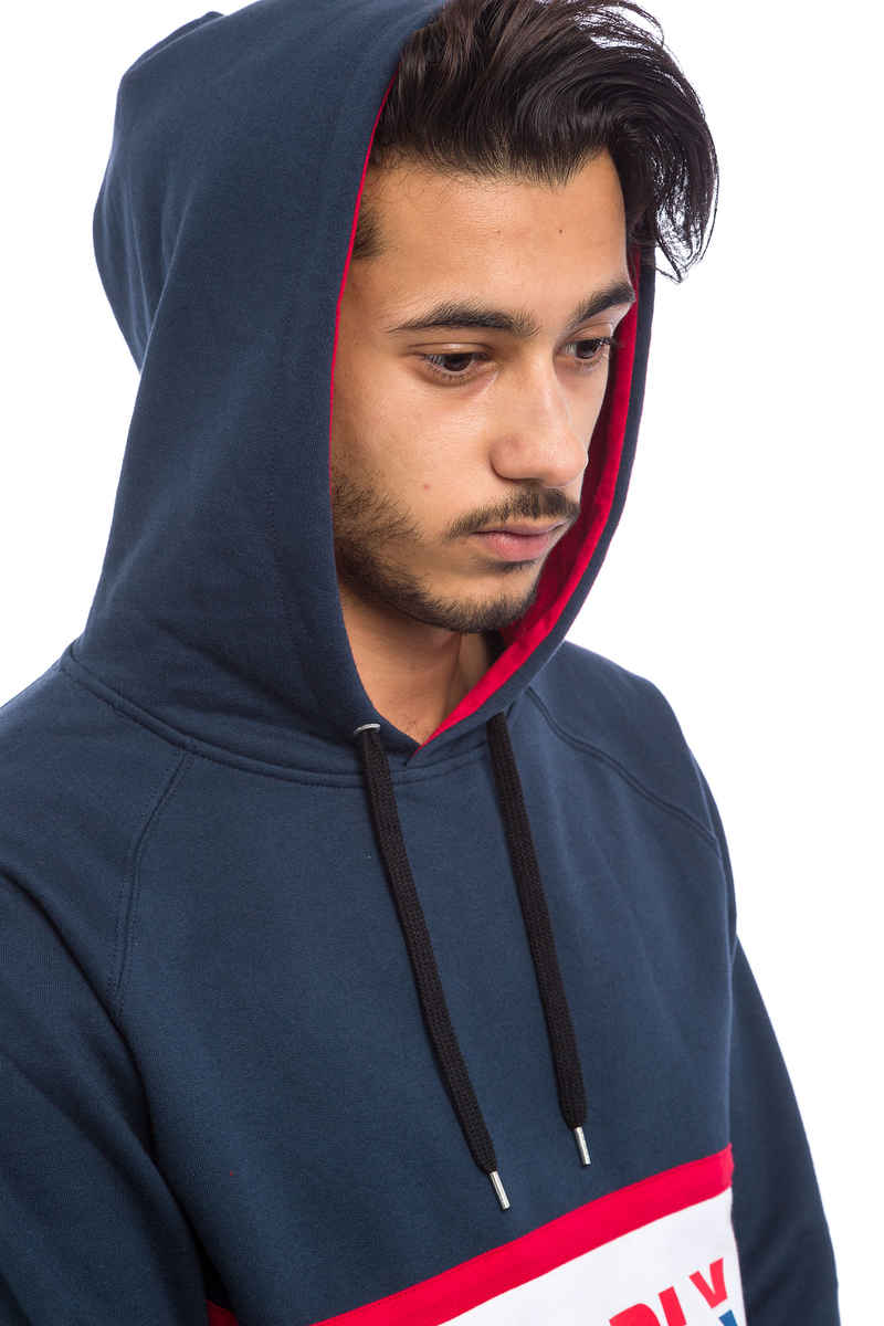 SK8DLX Athletic sweat à capuche (navy red)