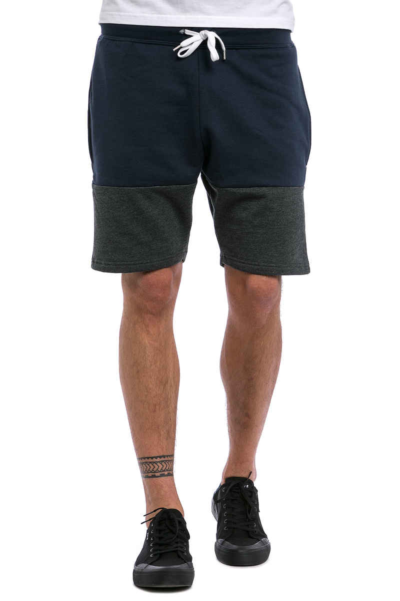SK8DLX Two Colors Shorts (navy heather charcoal)