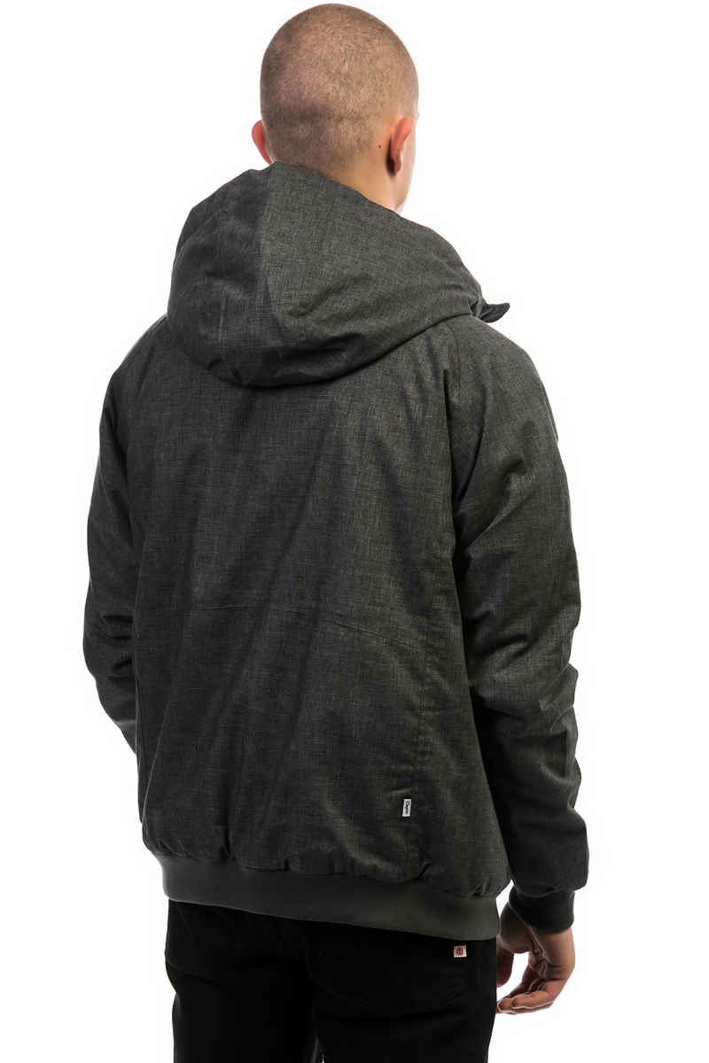 Cleptomanicx Polarzipper Hemp 3 Jacket (heather dark grey)