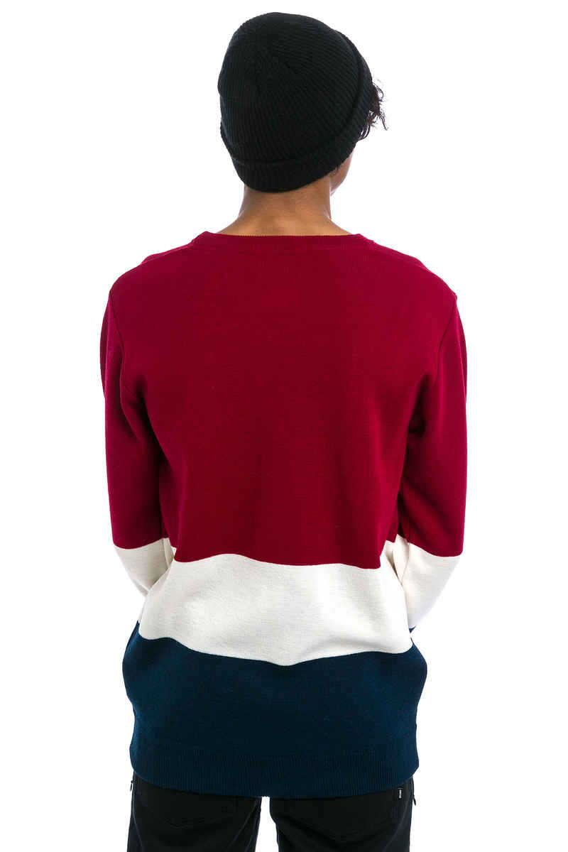 Cleptomanicx Port Sweatshirt (merlot red)