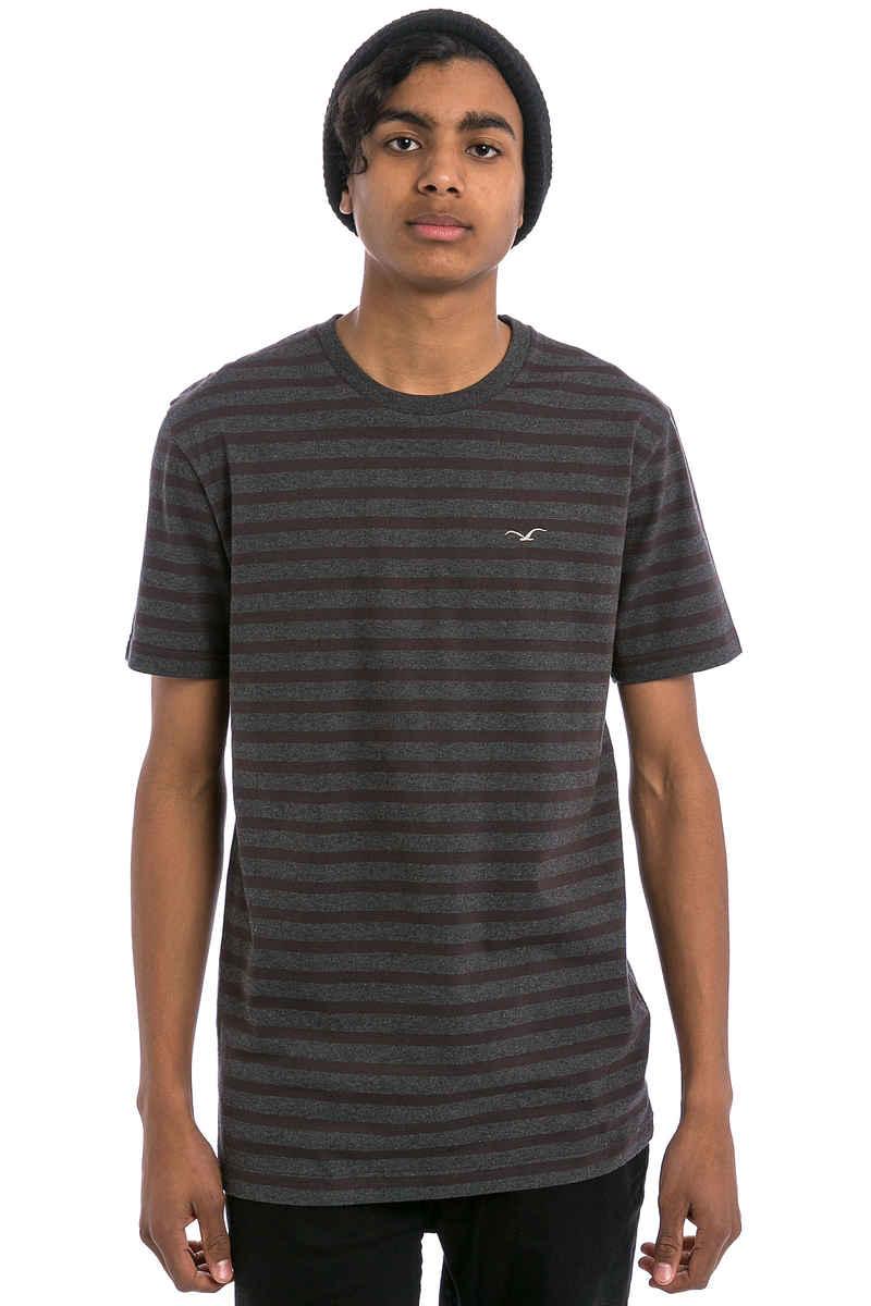 Cleptomanicx Classic Stripe 2 T-Shirt (heather black)