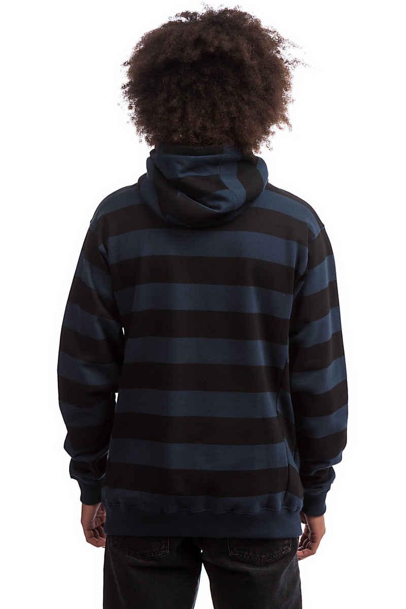 Cleptomanicx Stripe 3.0 Hoodie (dark navy)