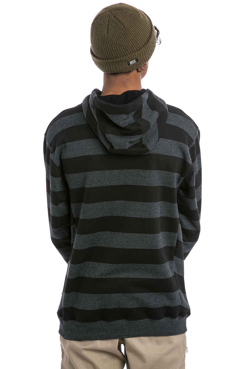 Cleptomanicx Stripe 3.0 Hoodie (heather black)