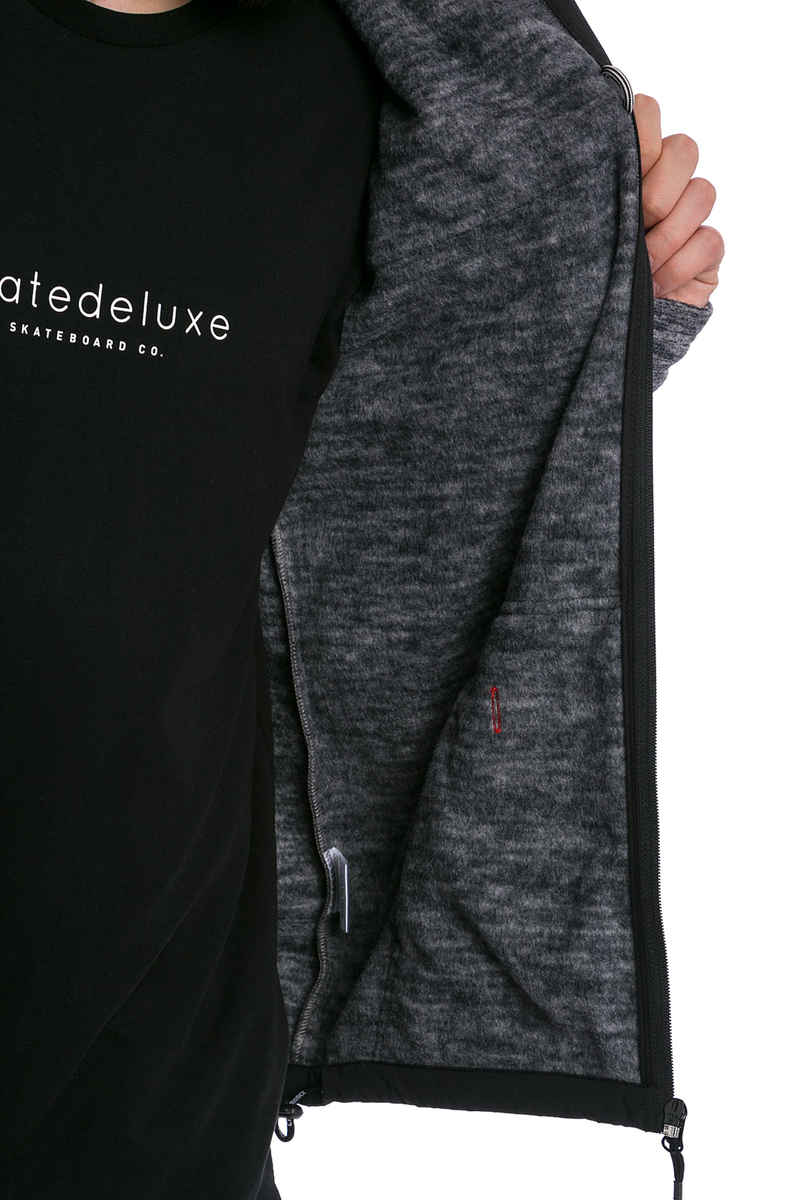 Cleptomanicx Fleece Sudadera con cremallera (black)