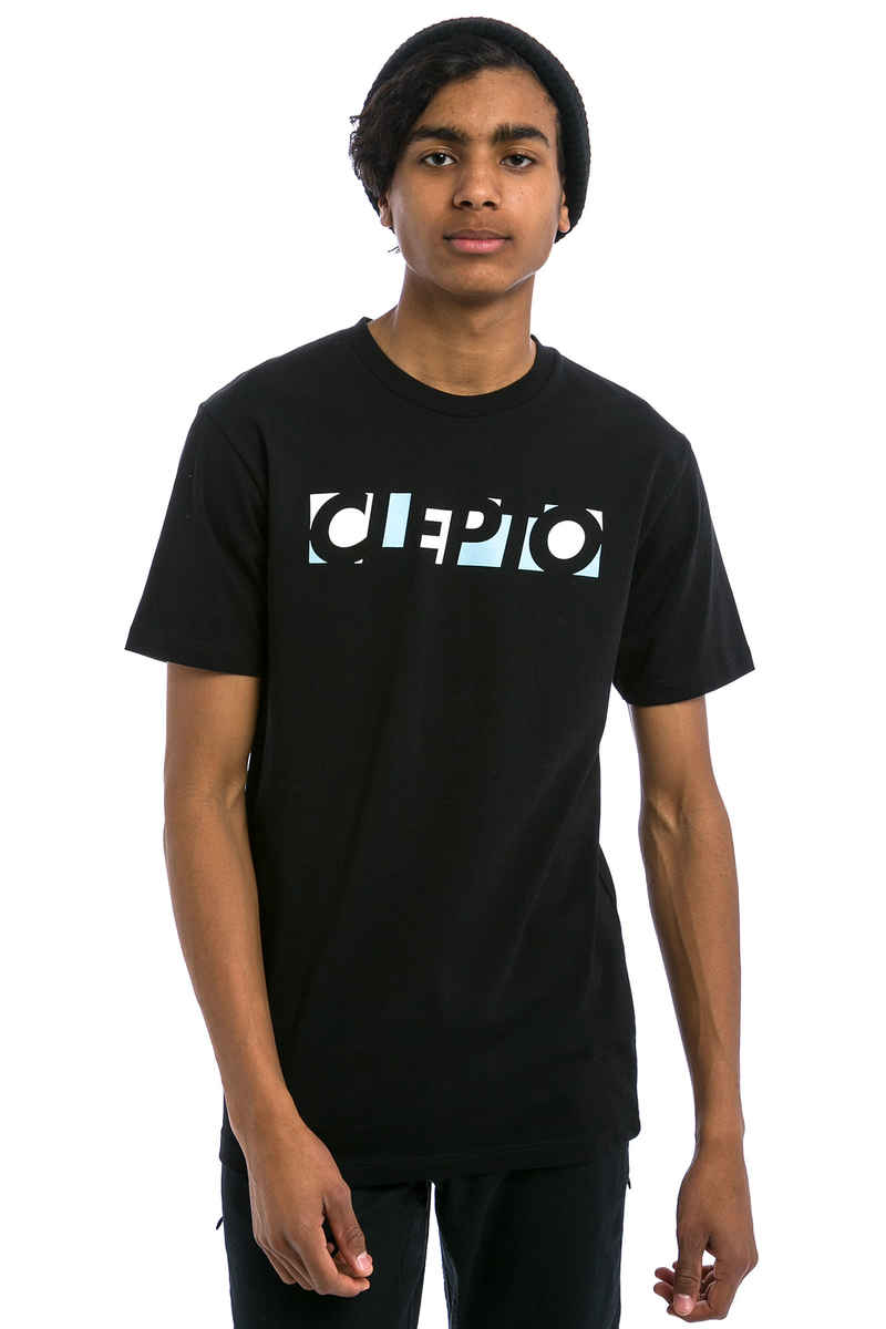 Cleptomanicx Blocks T-Shirt (black)