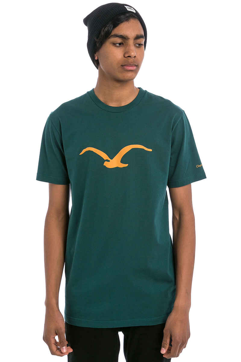 Cleptomanicx Möwe T-Shirt (dark sea green)
