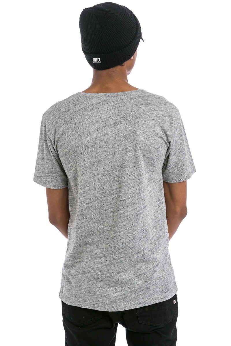 Cleptomanicx Vintage Möwe T-Shirt (vintage grey mj blue)