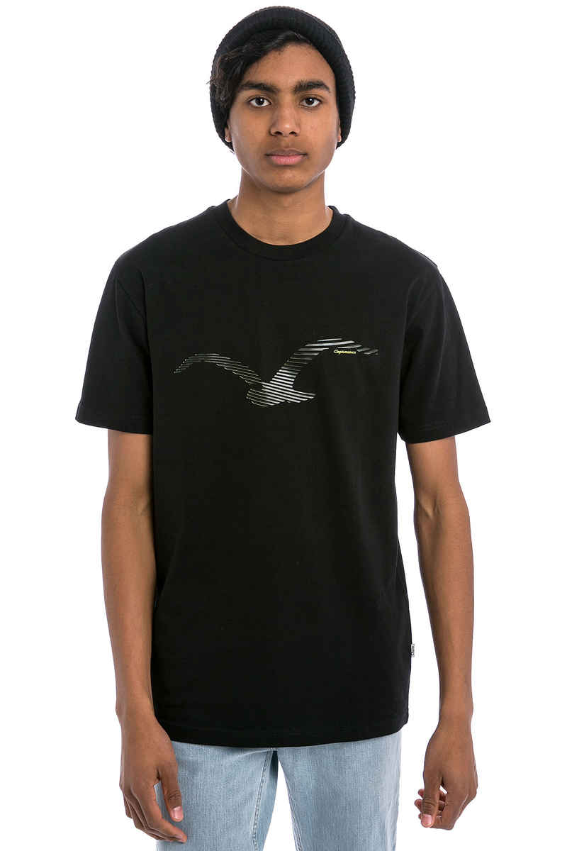 Cleptomanicx Two Möwe T-Shirt (black neon)